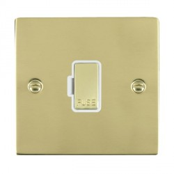 Hamilton Sheer Polished Brass 1 Gang 13A Fuse Only with White Insert