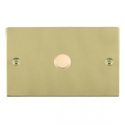 Hamilton Sheer Polished Brass Push On/Off 1000W Dimmer 1 Gang 2 way with Polished Brass Insert