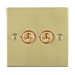 Hamilton Sheer Polished Brass 2 Gang 2 Way Dolly with Polished Brass Insert
