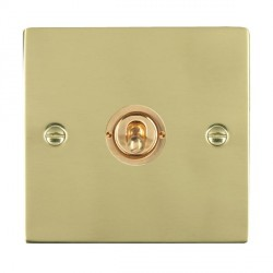 Hamilton Sheer Polished Brass 1 Gang Push To Make Retractive Dolly with Polished Brass Insert