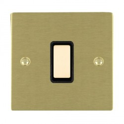 Hamilton Sheer Satin Brass 1 Gang Multi way Touch Master Trailing Edge with Black Insert