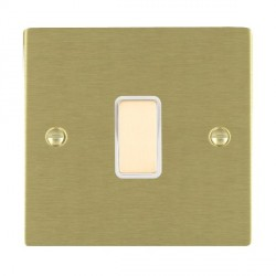 Hamilton Sheer Satin Brass 1 Gang Multi way Touch Slave Trailing Edge with White Insert