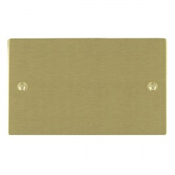 Hamilton Sheer Satin Brass Double Blank Plate