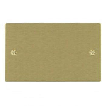 Hamilton Sheer Satin Brass Double Blank Plate