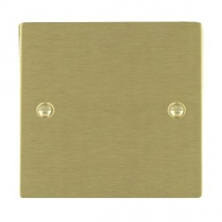Hamilton Sheer Satin Brass Single Blank Plate