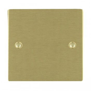 Hamilton Sheer Satin Brass Single Blank Plate