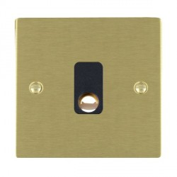 Hamilton Sheer Satin Brass 20A Cable Outlet with Black Insert