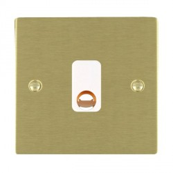 Hamilton Sheer Satin Brass 20A Cable Outlet with White Insert