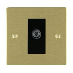 Hamilton Sheer Satin Brass 1 Gang Digital Satellite with Black Insert
