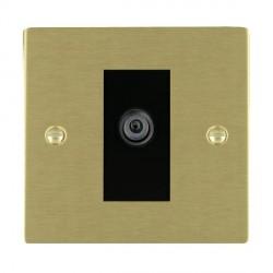 Hamilton Sheer Satin Brass 1 Gang Digital Satellite with Black Insert
