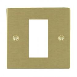 Hamilton Sheer EuroFix Plates Satin Brass Single Plate c/w 1 EuroFix Apertures + Grid