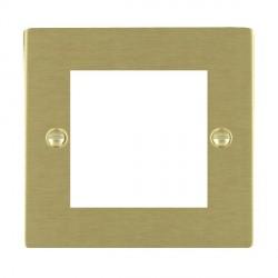Hamilton Sheer EuroFix Plates Satin Brass Single Plate c/w 2 EuroFix Apertures + Grid