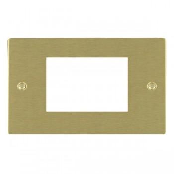 Hamilton Sheer EuroFix Plates Satin Brass Double Plate c/w 3 EuroFix Apertures + Grid