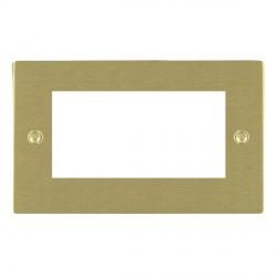 Hamilton Sheer EuroFix Plates Satin Brass Double Plate c/w 4 EuroFix Apertures + Grid