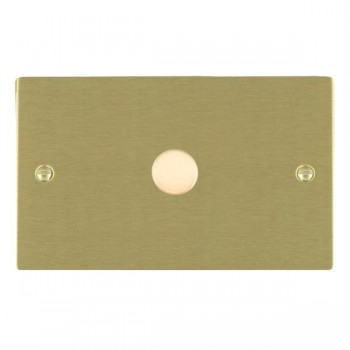 Hamilton Sheer Satin Brass Push On/Off 1000W Dimmer 1 Gang 2 way with Satin Brass Insert