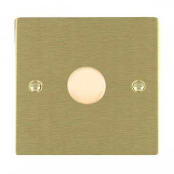 Hamilton Sheer Satin Brass Push On/Off 400W Dimmer 1 Gang 2 way with Satin Brass Insert