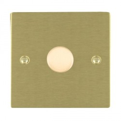 Hamilton Sheer Satin Brass Push On/Off 600W Dimmer 1 Gang 2 way with Satin Brass Insert