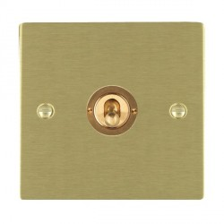 Hamilton Sheer Satin Brass 1 Gang Push To Make Retractive Dolly with Satin Brass Insert