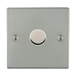 Hamilton Sheer Bright Steel Push On/Off 400W Dimmer 1 Gang 2 way with Bright Steel Insert