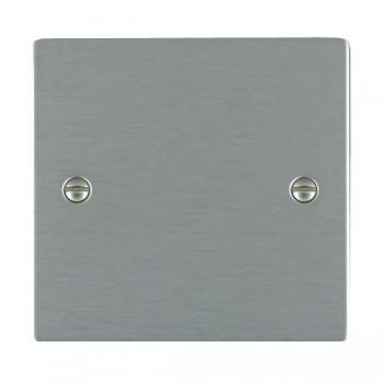 Hamilton Sheer Satin Steel Single Blank Plate