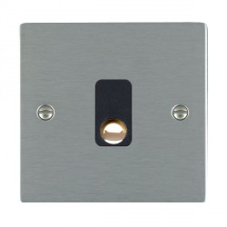 Hamilton Sheer Satin Steel 20A Cable Outlet with Black Insert