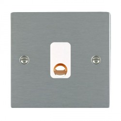 Hamilton Sheer Satin Steel 20A Cable Outlet with White Insert