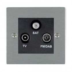 Hamilton Sheer Satin Steel TV+FM+SAT (DAB Compatible) with Black Insert