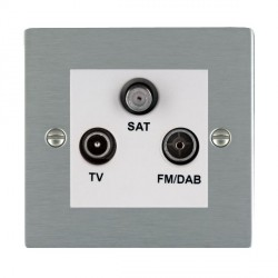 Hamilton Sheer Satin Steel TV+FM+SAT (DAB Compatible) with White Insert