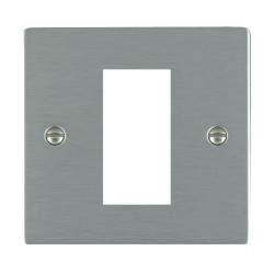 Hamilton Sheer EuroFix Plates Satin Steel Single Plate c/w 1 EuroFix Apertures + Grid