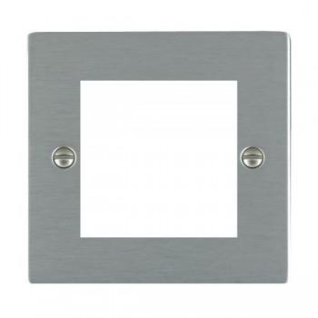 Hamilton Sheer EuroFix Plates Satin Steel Single Plate c/w 2 EuroFix Apertures + Grid
