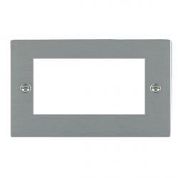 Hamilton Sheer EuroFix Plates Satin Steel Double Plate c/w 4 EuroFix Apertures + Grid