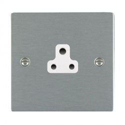 Hamilton Sheer Satin Steel 1 Gang 2A Unswitched Socket with White Insert