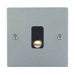 Hamilton Sheer Satin Chrome 20A Cable Outlet with Black Insert