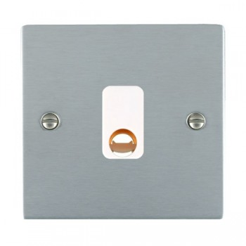 Hamilton Sheer Satin Chrome 20A Cable Outlet with White Insert