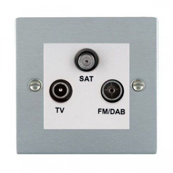 Hamilton Sheer Satin Chrome TV+FM+SAT (DAB Compatible) with White Insert