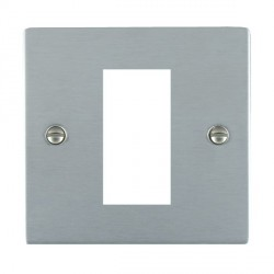 Hamilton Sheer EuroFix Plates Satin Chrome Single Plate c/w 1 EuroFix Apertures + Grid