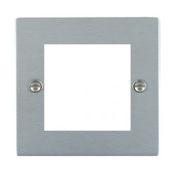 Hamilton Sheer EuroFix Plates Satin Chrome Single Plate c/w 2 EuroFix Apertures + Grid