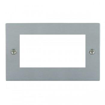 Hamilton Sheer EuroFix Plates Satin Chrome Double Plate c/w 4 EuroFix Apertures + Grid