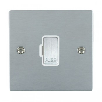 Hamilton Sheer Satin Chrome 1 Gang 13A Fuse Only with White Insert