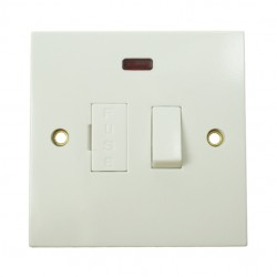 BG White PVC Fused Connection Unit with Neon