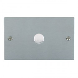 Hamilton Sheer Satin Chrome Push On/Off 1000W Dimmer 1 Gang 2 way with Satin Chrome Insert