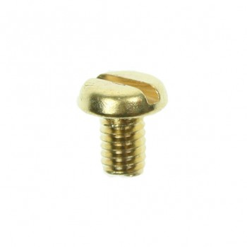 100 M4x6mm Brass Pan Head Screws