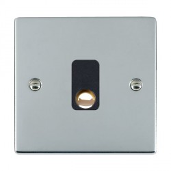 Hamilton Sheer Bright Chrome 20A Cable Outlet with Black Insert