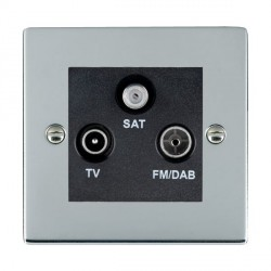 Hamilton Sheer Bright Chrome TV+FM+SAT (DAB Compatible) with Black Insert