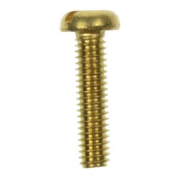 100 M4x16mm Brass Pan Head Screws