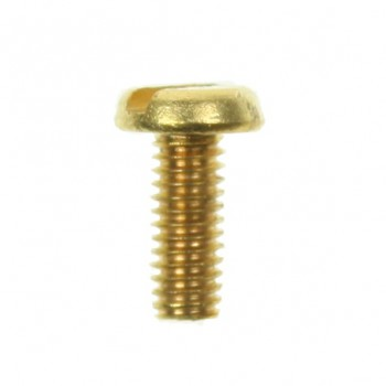 100 M4x10mm Brass Pan Head Screws