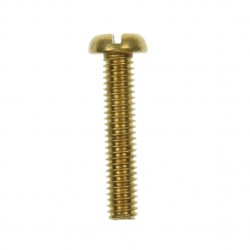 100 M4x20mm Pan Head Brass Screws