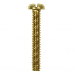 100 M4x25mm Pan Head Brass Screws