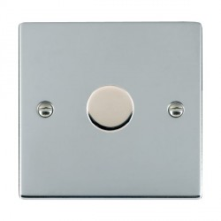 Hamilton Sheer Bright Chrome Push On/Off 400W Dimmer 1 Gang 2 way with Bright Chrome Insert