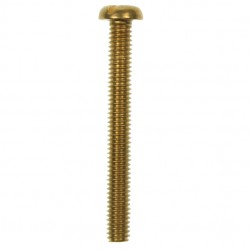 100 M4x35mm Pan Head Brass Screws